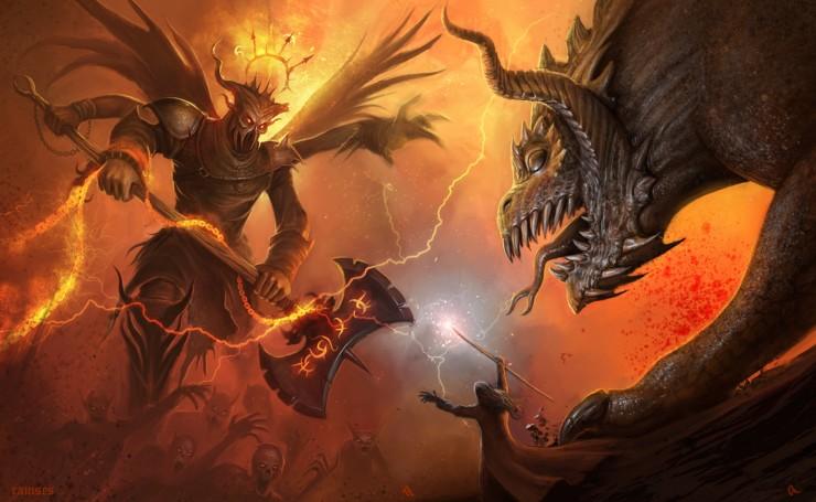 картинки про демона война