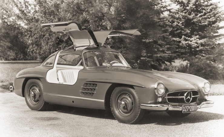 Обои Mercedes Benz 300SL Coupe BW