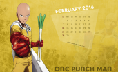 Календарь на февраль 2016, One-Punch Man