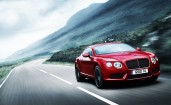 Красный Bentley Continental GT V8
