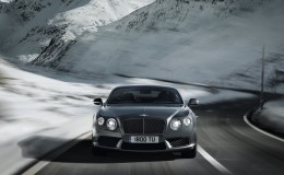 Серебристый Bentley Continental GT V8 обои